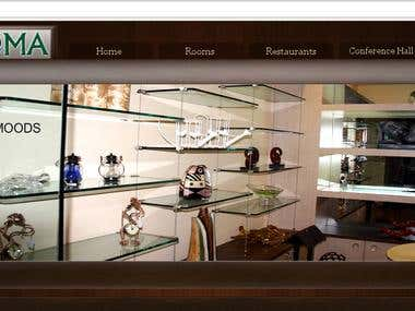 Website Design for Aroma Hotel
