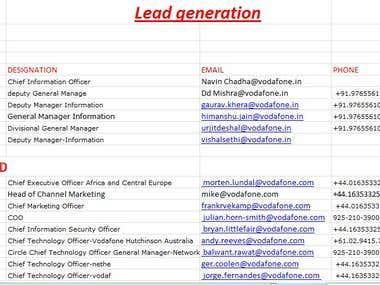 lead generation sample