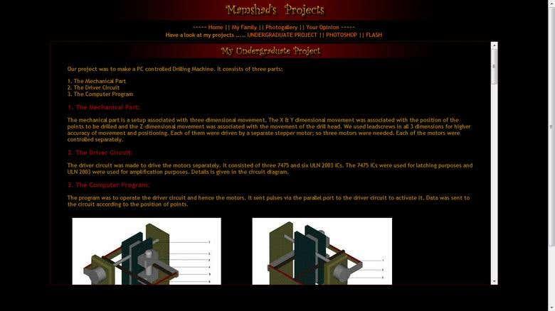 My Website - www mamshad com | Freelancer