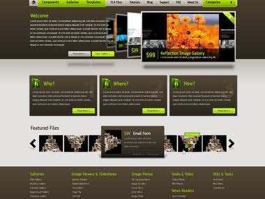 Flash XML Homepage Design