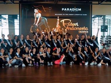 Welcoming Puteri Indonesia 2020 @ Paradigm Fitness Indonesia