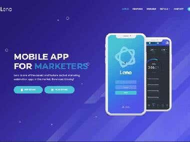 Website For Mobile App