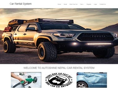 Django+MySQL Car Rental System WebSite