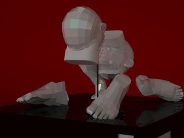 "3D Digital Art. Marriage bond - ""Cyber Adultery"""