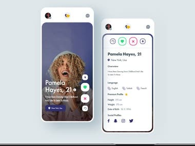 Dating App UI Design