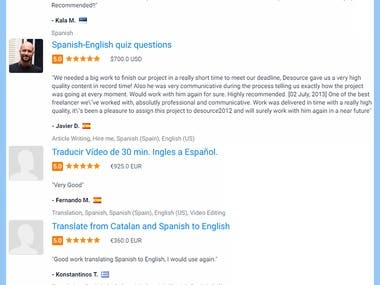 Spanish & English General texts translation