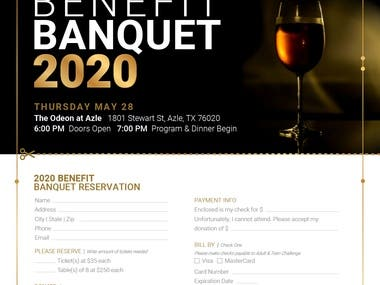 Design of Formal Event Flyer