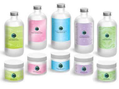 Packaging  Label Design Skincare