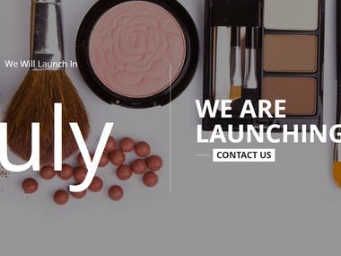 Comming Soon Cosmetic Site