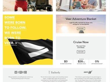 Sample E-commerce Website Made in WordPress using Elementor