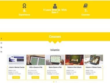 Faizan Quran Website Using HTML 5 + CSS + Bootstrap + PHP
