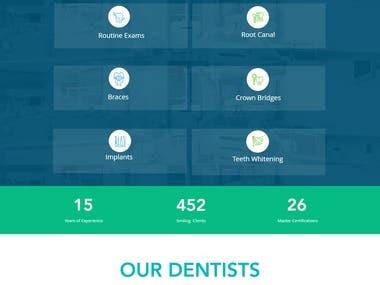 Dental website using Wix platform