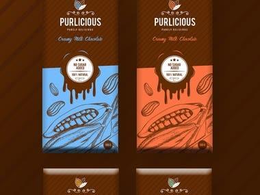 Purlicious Chocolate Bar packaging