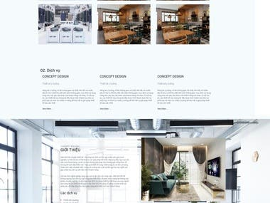 Interior website build