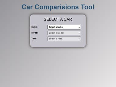 Simple Car Comparison Website
