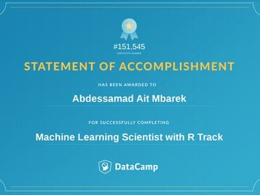 Machine Learning Certificate