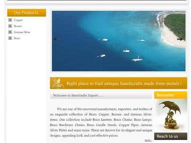 Dynamic Mantrarhi (Export company ) Website