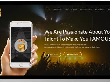 Landing page for talent hunting