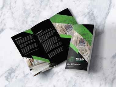 Rollup banner and Flyer/Brochure/Menu design