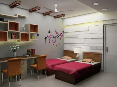 3D image of a kid's room