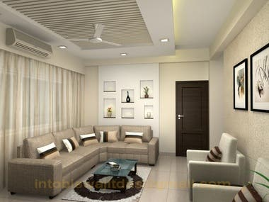 3D image of a drawing room