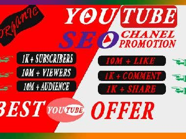 I will promote your youtube video and video top ranking