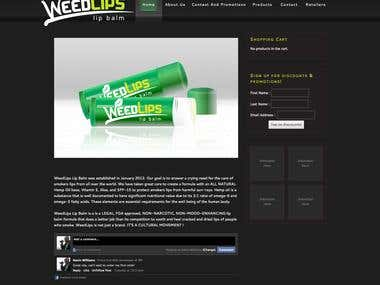 WeedLips Wordpress Site