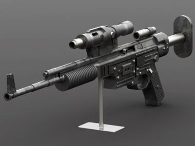 Rifle Model for a Computer Game