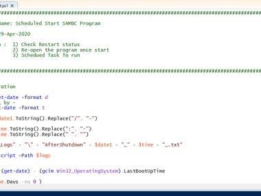 Powershell Script: Scheduled Shutdown Server