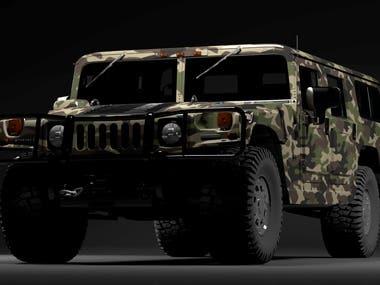 Hummer 3D modeling