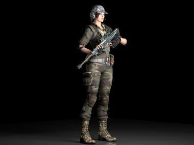 girl combat modeling