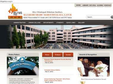 Dynamic website Php-MySQL for Shahu College
