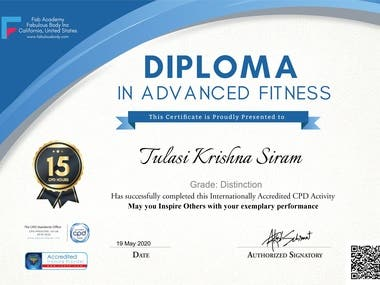 Diploma in Advanced Fitness