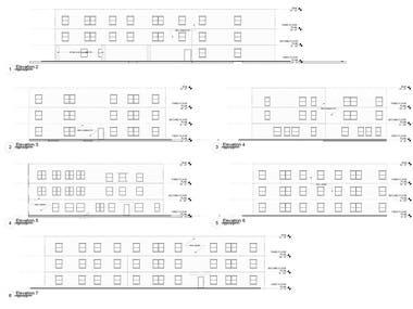2D FLOOR PLANS, ELEVATION DRAWINGS