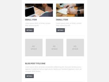 Gusto HTML5 Email template