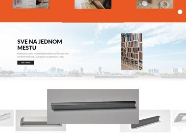 Complete wordpress website in Serbian Laitn