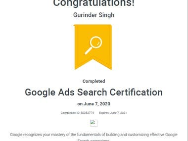 Google Search Ad Certification