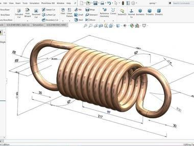 Elastic spring design