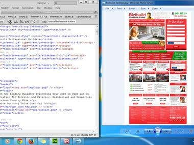 PSD TO HTML/CSS & PHP
