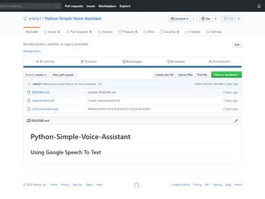 Voice Assistant using Python