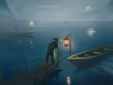 2D animation of Artwork