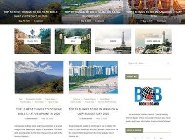 WordPress Travel Blog