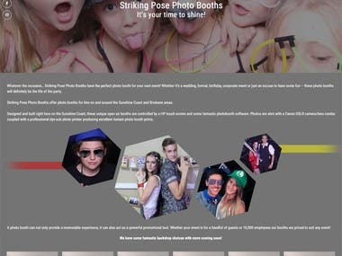 WordPress - Photo Booth Website