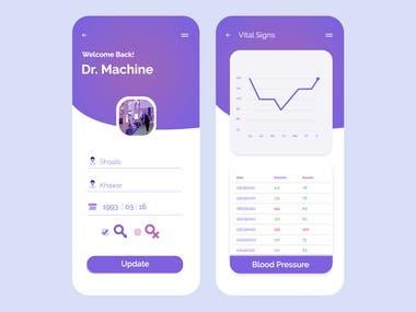 RPC UI/UX Mobile App Screen Design