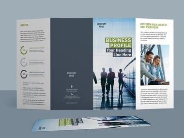 Four Fold Brochure Layout