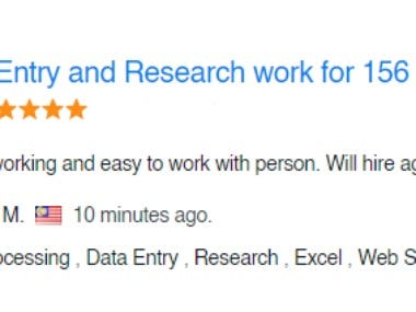 Data entry & Internet research