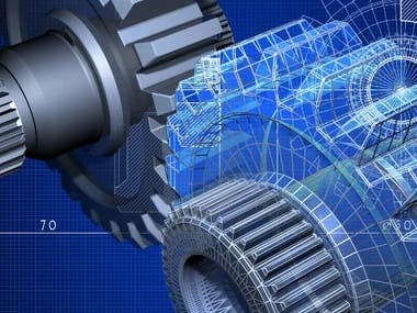 I will do industrial and mechanical engineering projects