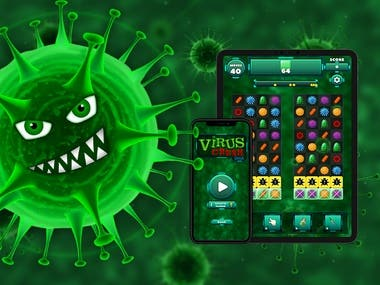 Virus Crush Saga - Match 3 Puzzle