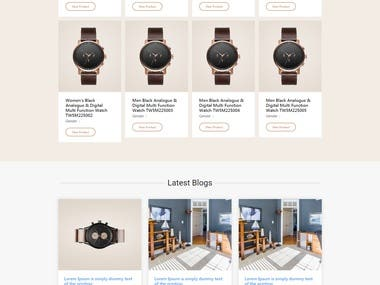 Custom e-commerce theme