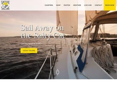 SaltyCat Sailing Php Website